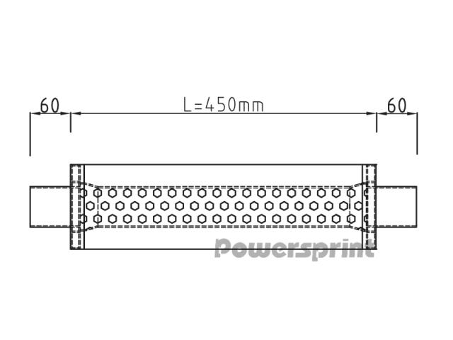 "Panela 63mm (2.5"") Powersprint (450mm)"