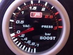 Manómetro Mecânico de Pressão Turbo Auto Gauge 3 BAR