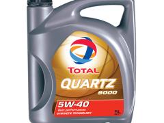 Óleo de Motor Sintético TOTAL Quartz 9000 5W40 5L