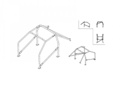 Rollbar Sparco Nissan 240 SX S13 1989/1994 (Roll cage)