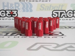 Fêmeas alumínio D1specs M12x1,5 Vermelhas 42mm