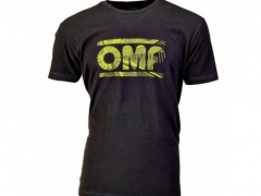 T-Shirt OMP Preta Logo Amarelo M