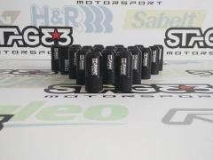 Fêmeas alumínio D1specs M12x1,5 Pretas 42mm