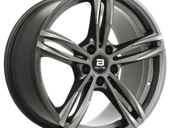 Butzi Stella Anthracite Front Polished 18x8