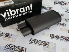 "Panela de Escape Vibrant de 63 mm (2.5'') com dupla saida 76mm (3"")"