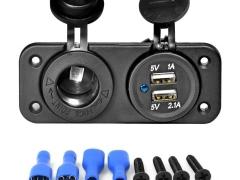 Adaptador Carregador Isqueiro 12V / 24V USB